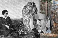 Jediný pražský menhir stojí v Chabrech: Zkamenělého slouhu roku 1914 zachytil spisovatel Eduard Štorch (†78)