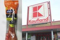 Polský salám se šizeným masem prodával i Kaufland. Šlo o tři druhy kabanosu
