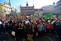 Stovky studentů vyšly do pražských ulic: Stávkovaly za lepší klima, celosvětovou akci začala 16letá Švédka