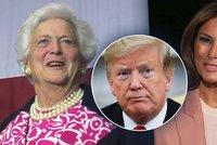 Bushová byla z výhry Trumpa zděšená. U Ivany zmínila hnus, Melanii ale radila