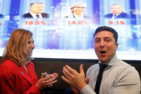 """Prezidenta """"smetl"""" komik: První kolo voleb na Ukrajině vyhrál Zelenskyj, ukazují průzkumy"""