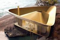 Moderní letní dům nabízí inovativní bazén a panoramatické výhledy