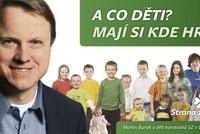 """Zelení se musí Katapultu omluvit za slogan """"A co děti? Mají si kde hrát?"""""""