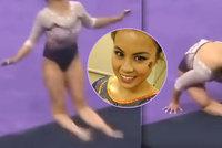 Příšerné video jen pro otrlé: Gymnastka si při špatném dopadu přerazila obě nohy! Kariéra pro ni skončila