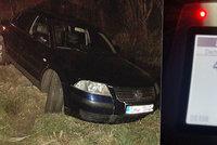 Mladík na Českolipsku nadýchal po nehodě přes 4 promile. Jen zázrakem nikoho nezabil