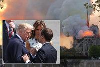 Zarmoucený Zeman, Babišova SMS a rady od Trumpa: Strašlivý požár Notre-Dame zděsil svět