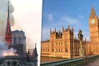 Britský parlament shoří jako Notre-Dame? Je v podobném stavu, varují poslanci