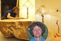 Nepokácel jediný strom! Designér Petr tvoří dřevěné skvosty v duchu zero waste