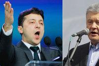 Porošenko obvinil rivala na Ukrajině z ruských peněz. Zelenskyj: Jsem vaše chyba