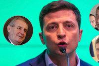 Zeman zve Zelenského do Česka. Babiš přeje ukrajinskému prezidentovi sílu a trpělivost