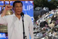 """""""Vyhlásím vám válku!"""" Filipínský prezident se kvůli odpadkům pustil do Kanady"""
