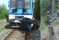 Tragická nehoda na Trutnovsku: Řidička (†42) zemřela po srážce s vlakem
