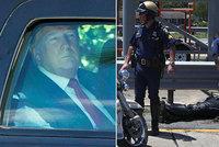 Nehoda prezidentské kolony: Tři policisté v nemocnici, Trump je v klidu objel
