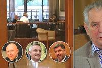 """Zemanovi hoši a """"pan ČEZ"""" u jednoho stolu: Srkali guláš a řešili jádro?"""