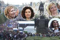 """""""Máme toho dost!"""" Proti Benešové a Babišovi bouřily na Václaváku i české celebrity"""