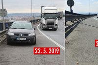 Auto odstavené na Vysočanské radiále odstranili díky Blesku! Překáželo tam měsíc