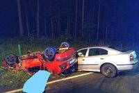 Řidička (19) dostala smyk na Jindřichohradecku: Srážku s octavií nepřežil spolujezdec: Žena je vážně zraněná