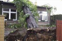Na Olomoucku udeřily silné bouřky a kroupy, hasiči mají plno práce, sledujte radar