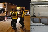 Velký zátah proti nelegálním migrantům: Speciální přístroj zaznamená tlukot srdce uvnitř náklaďáku