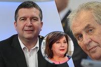 Hamáček si chce Zemanův úskok vyříkat na Vysočině. Schillerová prezidenta brání