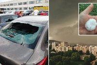Kroupy zpustošily Košice: Zničená auta, domy a horentní účet pro pojišťovny