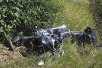 Na Vsetínsku zemřel motorkář: Srazil se s osobním autem