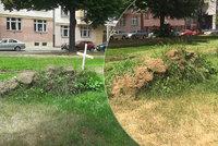 Recesisté v Praze 6 opět útočí: Proč v ulici Jugoslávských partyzánů vyrobili hrob?