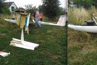 Havárie letadla na Trutnovsku: Pilot větroně nezvládl přistání
