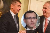 Expert: Babiš si absurdně vykládá ústavu, Zeman ji hrubě a vědomě porušuje