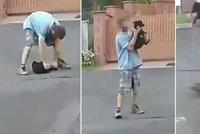 Šílené video z Jáchymova: Tyran brutálně napadl vlastní fenečku