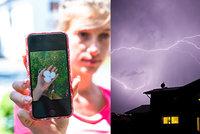 Silné bouřky udeřily: Popadané stromy a lijáky, hrozí kroupy. Sledujte radar