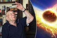 """Zničí Zemi asteroid? """"Třeba už letí,"""" říká slavný český 100letý astronom"""
