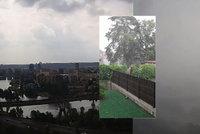 VIDEO: Unikátní záběry. Takhle řádila včerejší bouře nad Prahou