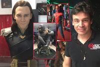 Největší sběratel filmových figur je z Prahy! Johnny v Libni vystavuje Spidermana, Iron Mana nebo Batmana