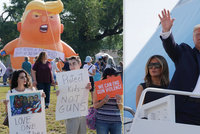 """""""Rasisto, jdi domů,"""" šili po masakrech do Trumpa. Ten i s Melanií navštívil zraněné"""