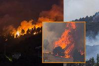 Velký požár na Kanárech: Evakuovali i luxusní hotel, domovy opustilo už 9000 lidí