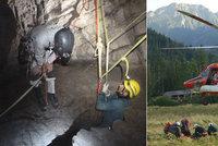 """""""Obáváme se o jejich život."""" Uvězněné jeskyňáře v Tatrách hledají i Slováci"""