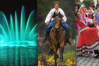 Tipy na víkend: Hasiči vystříkají fontánu, zažijte koně v akci nebo folklor v ulicích