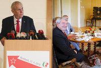 """""""Hnus k blití."""" Zeman to schytal za přijetí šéfa KSČM během výročí, Ovčáčka štvou pokrytci"""