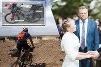 Extrémní líbánky českých novomanželů: Osm tisíc kilometrů v sedle kola!