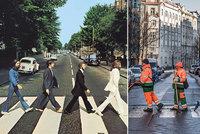 """""""Beatles"""" ze Žižkova! Pražské služby napodobují slavné snímky, na sociálních sítích sklízejí úspěch"""