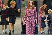 První školní den princezny Charlotte: Nastupuje do stejné školy jako bratr George!