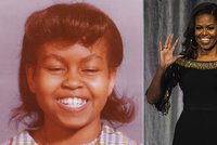 """""""Každá dívka si zaslouží vzdělání,"""" říká bývalá první dáma. Obamová ukázala fotku ze školních let"""
