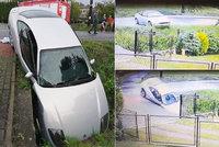 Český řidič havaroval v Polsku: Kvůli vysoké rychlosti skončil po smyku v příkopě