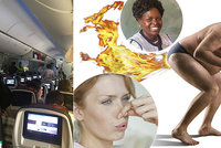 Poslankyně chce zákonem zakázat prdění v letadlech: Puch prý může vést i k násilí
