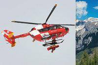 Čeští turisté uvízli v Alpách: Zachraňoval je vrtulník