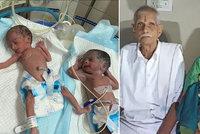 Nejstarší matka (74) světa: Oba rodiče jsou na JIP! Máma po porodu, táta (78) po kolapsu