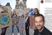 "Pirátský radní ""školil"" ředitele v Praze: Omluvte účastníky stávky za klima z výuky"