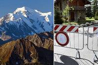 Na vrcholu Mont Blancu se trhá obří ledovec. V Itálii nařídili evakuaci a zavřeli silnice