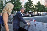"""""""Terorismus je náš hlavní nepřítel."""" Babiš s Monikou uctil oběti 11. září"""